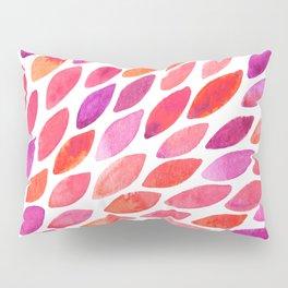 Watercolor brush strokes burst - pink and purple Pillow Sham