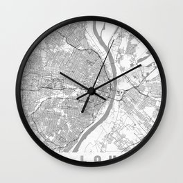 St Louis Map Line Wall Clock