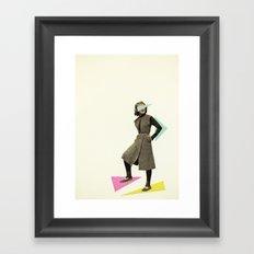 Shapely Figure Framed Art Print