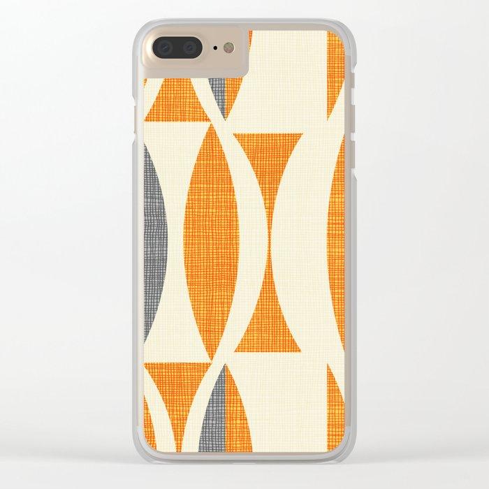 Seventies  orange Clear iPhone Case
