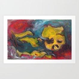 faced Art Print