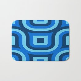 Blue Truchet Pattern Bath Mat