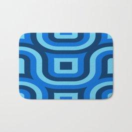 Blue Truchet Pattern Bath Mat