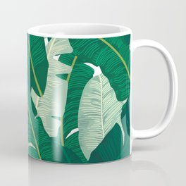 Classic Banana Leaves in Palm Springs Green Coffee Mug