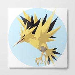 Zapdos Illustration Metal Print