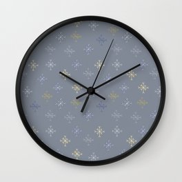 Snowflakes Wall Clock