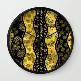 Luxury  Black and Gold African Pattern Wall Clock