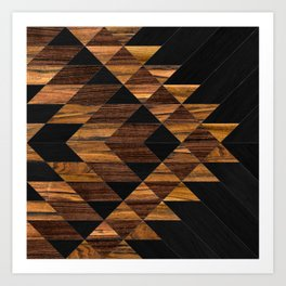 Urban Tribal Pattern 11 - Aztec - Wood Art Print