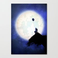 The man & the moon Canvas Print