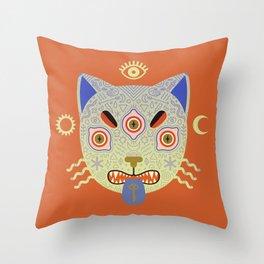 Mystic Cat Throw Pillow