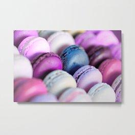 Lavender Purple Macaroons Metal Print