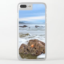 A Starfish Hangs on for Dear Life Clear iPhone Case