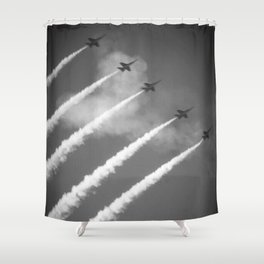 flight of angels Shower Curtain