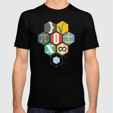 Math in color (white Background) Mens Fitted Tee 2X-LARGE Black