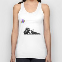 banksy Tank Tops featuring Banksy style by veronica ∨∧