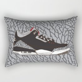 Jordan 3 Black Cement Rectangular Pillow