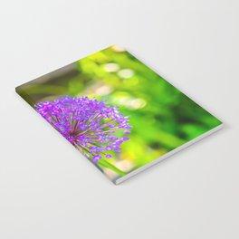 Purple + Blue Flower Notebook