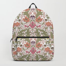 Spring Pattern with Poppy Flowers and Gladioli Backpack