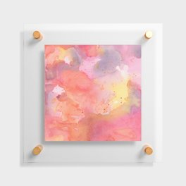Sunset Color Palette Abstract Watercolor Painting Floating Acrylic Print
