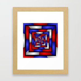 Colorful Tunnel 3 Digital Art Graphic Framed Art Print