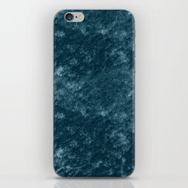 Peacock teal velvet iPhone Skin