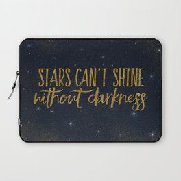 Stars- Darkness - sparkling gold glitter effect night typography Laptop Sleeve