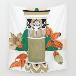 Pillar with flowers Wall Tapestry