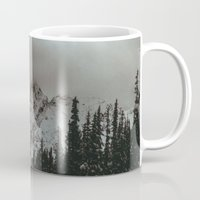 snowboard Mugs featuring Mountain Road by Leah Flores
