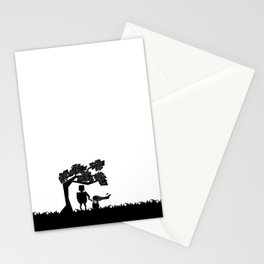 The child and the robot Stationery Cards