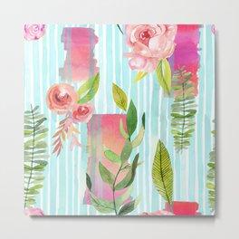 summer color flowers  Metal Print