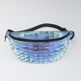 Abstract geometric 3D poligonal texture. Fanny Pack