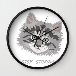 A Kitten's Eyes Wall Clock