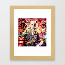 Night Out: Hotline Miami Framed Art Print