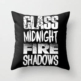 Throne of Glass Series Titles Throw Pillow