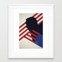 house of cards Framed Art Prints featuring HOUSE of CARDS by Shujaat Syed