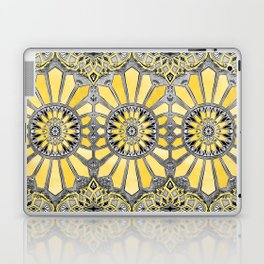 Sunny Yellow Radiant Watercolor Pattern Laptop & iPad Skin