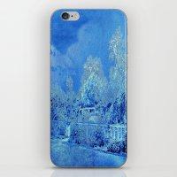 scrubs iPhone & iPod Skins featuring Wedgewood Blue English Garden by Judy Palkimas