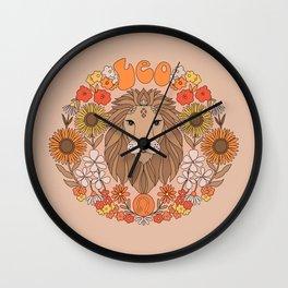Leo horoscope zodiac sign print  Wall Clock