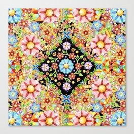 Boho Chic Flower Garden Canvas Print