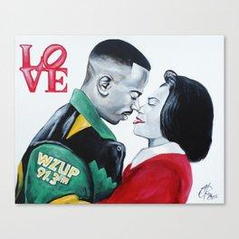 Black Love - Martin & Gina Canvas Print