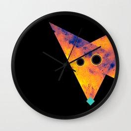 Fox, Exploring Space Wall Clock