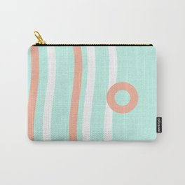 Turquoise & Coral (7) Carry-All Pouch