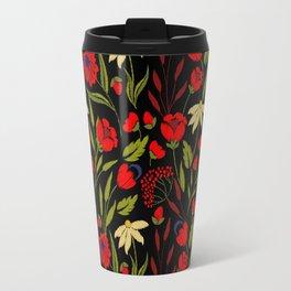 Floral embroidery Travel Mug