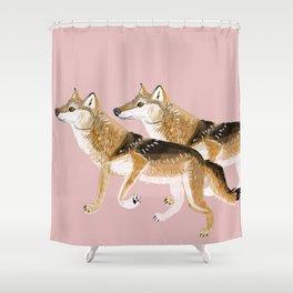 Totem Honshu Wolf Shower Curtain