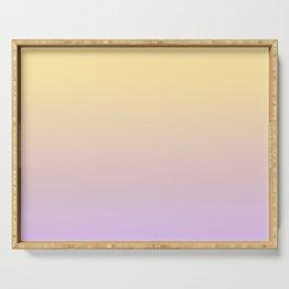 FUTURISTIC - Minimal Plain Soft Mood Color Blend Prints Serving Tray