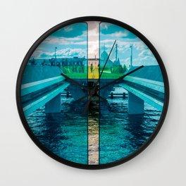 Inner Harbour Bridge (Inderhavnsbroen), Copenhagen, Denmark Wall Clock
