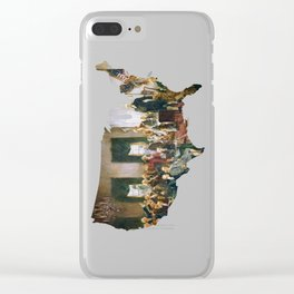 USA MAP The Signing of the Constitution of the United States Clear iPhone Case