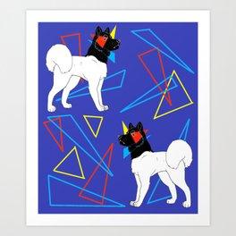 Primary Dogs - Akita Art Print