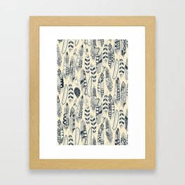 joyful feathers cream Framed Art Print