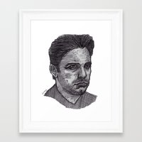 ben giles Framed Art Prints featuring Ben by jamestomgray